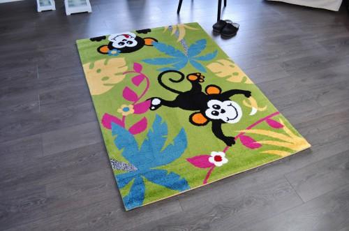 Hochwertiger Spielteppich Kinderteppich Teppich Affe